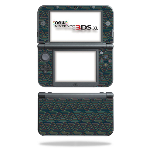 MightySkins Protective Vinyl Skin Decal for New Nintendo 3DS XL (2015) Case wrap cover sticker skins Triangle Stripes