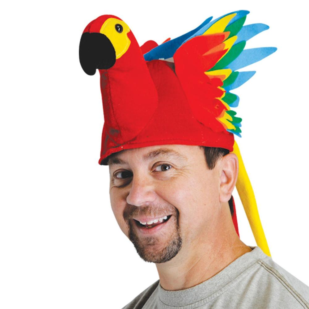 Beistle (6ct) Luau Party Tropical Parrot Hat