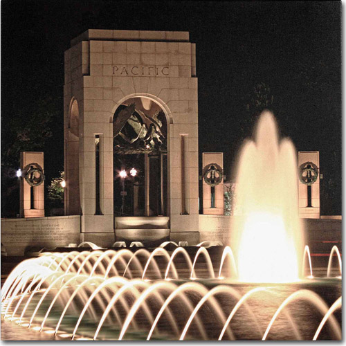 "Trademark Fine Art ""World War II Memorial"" Canvas Art by Gregory O'Hanlon"
