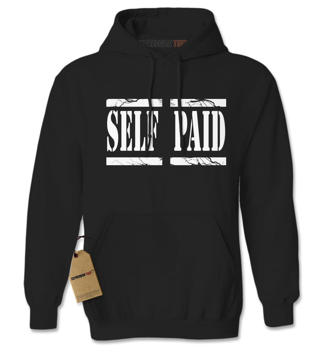 Expression Tees Self Paid Entrepreneur Adult Hoodie Sweatshirt