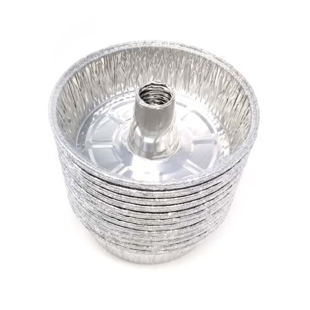 Tube Pans - Disposable Aluminum Foil Round Tube Pans - Great for Decorative Display, Parties, Disposable with Easy Serve Design, Food Cake Pan - 8