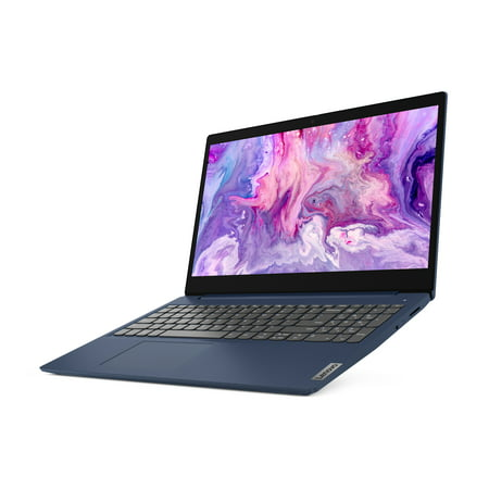 Lenovo IdeaPad 3 15u0022 Laptop, Intel Core i3-1005G1 Dual-Core Processor, 8GB Memory, 256GB Solid State Drive, Windows 10S - Abyss Blue - 81WE008HUS