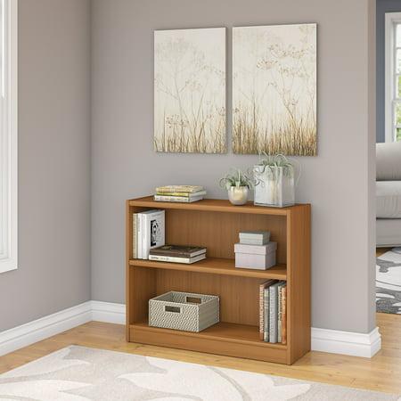 Bush Furniture Universal 2 Shelf Bookcase in Royal Oak