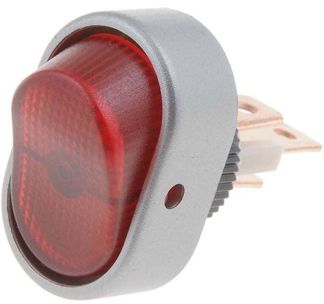 Dorman Help! 84870 Red Aluminum Oval Style Full Glow Rocker Switch