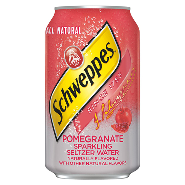 Schweppes Pomegranate Sparkling Seltzer Water 12 oz Cans - Pack of 24