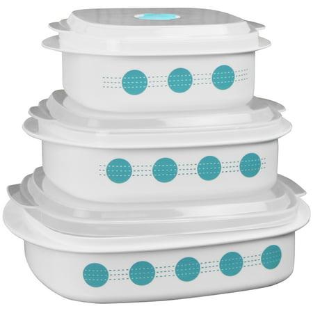 Corelle Coordinates 6-Piece Microwave Safe Cookware/Storage