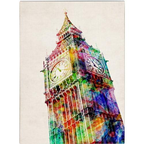 Trademark Art 'Big Ben' Canvas Art by Michael Tompsett