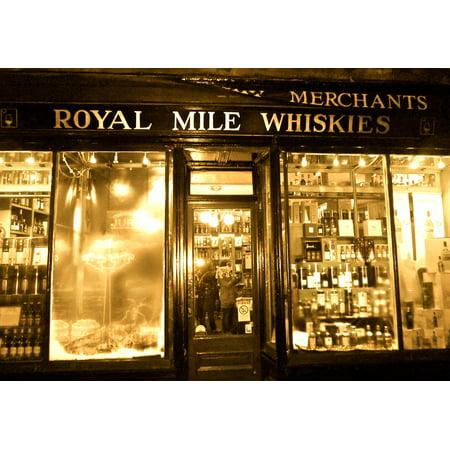 LAMINATED POSTER Shop Edinburgh Scottland Store Scotch City Whisky Poster Print 24 x (Edinburgh Mall Stores)