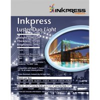 "Inkpress Luster Duo, Double Sided Inkjet Paper, 99% Bright, 280 gsm, 9.5 mil., 11x14"", 20 Sheets"