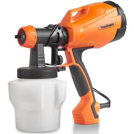 VonHaus Electric HVLP Spray Gun Paint Sprayer with 3 Adjustable Spray Patterns and Flow Control Ideal for Painting Fences, Ceilings, Walls and