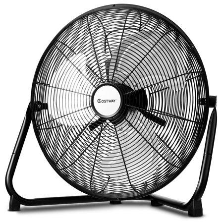 - Costway 16'' High Velocity Fan Commercial Industrial Grade 3-Speed Floor Fan 360 degree