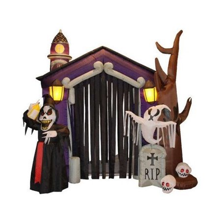 BZB Goods Halloween Inflatable Haunted House Decoration