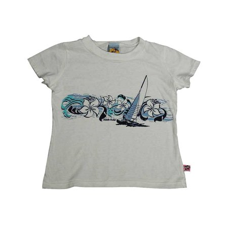 Charlie Rocket - Little Girls Short Sleeve Tee Shirt WHITE / 4 - Charlie Short