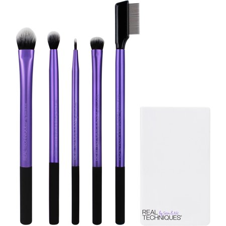 Real Techniques Enhanced Eye Makeup Brush Set - Halloween Eye Patch Makeup