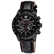 Wenger Men's 01.0853.108 Roadster Black Night Black Dial Black IP Steel Black Strap Chrono Watch