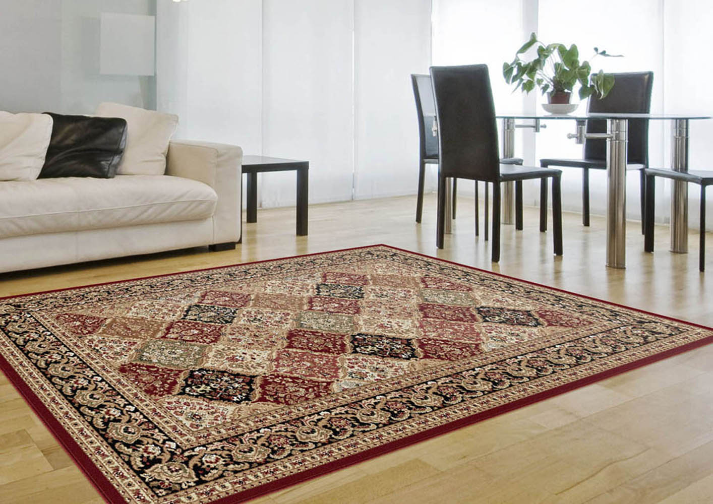 Potenza Brunelda Area Rugs 4770 Traditional Oriental Red Panel
