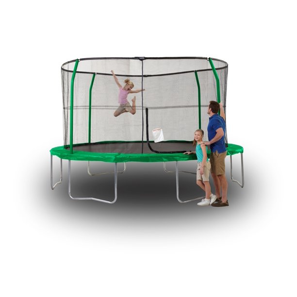 Orbounder 14' Trampoline with Enclosure, Green