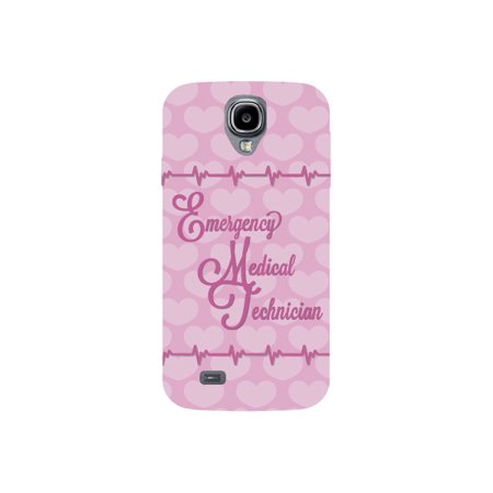 - Emergency Medical Technician EMT Print Pink Heart Beat Pattern Background Design Medical Phone Case for the Samsung Ga