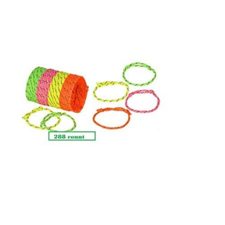 288 Neon Friendship Rope Bracelets ~ Birthday Party Favors ~ Summer Camps~ Halloween Trick or Treat ~ Easter Basket Fillers ~ Goody Bags ~ BFF New for $<!---->