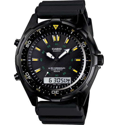 Casio Mens Black Ana Digi Watch
