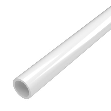 FORMUFIT P012FGP-WH-5 Schedule 40 PVC Pipe, Furniture Grade, 5-Feet, 1/2
