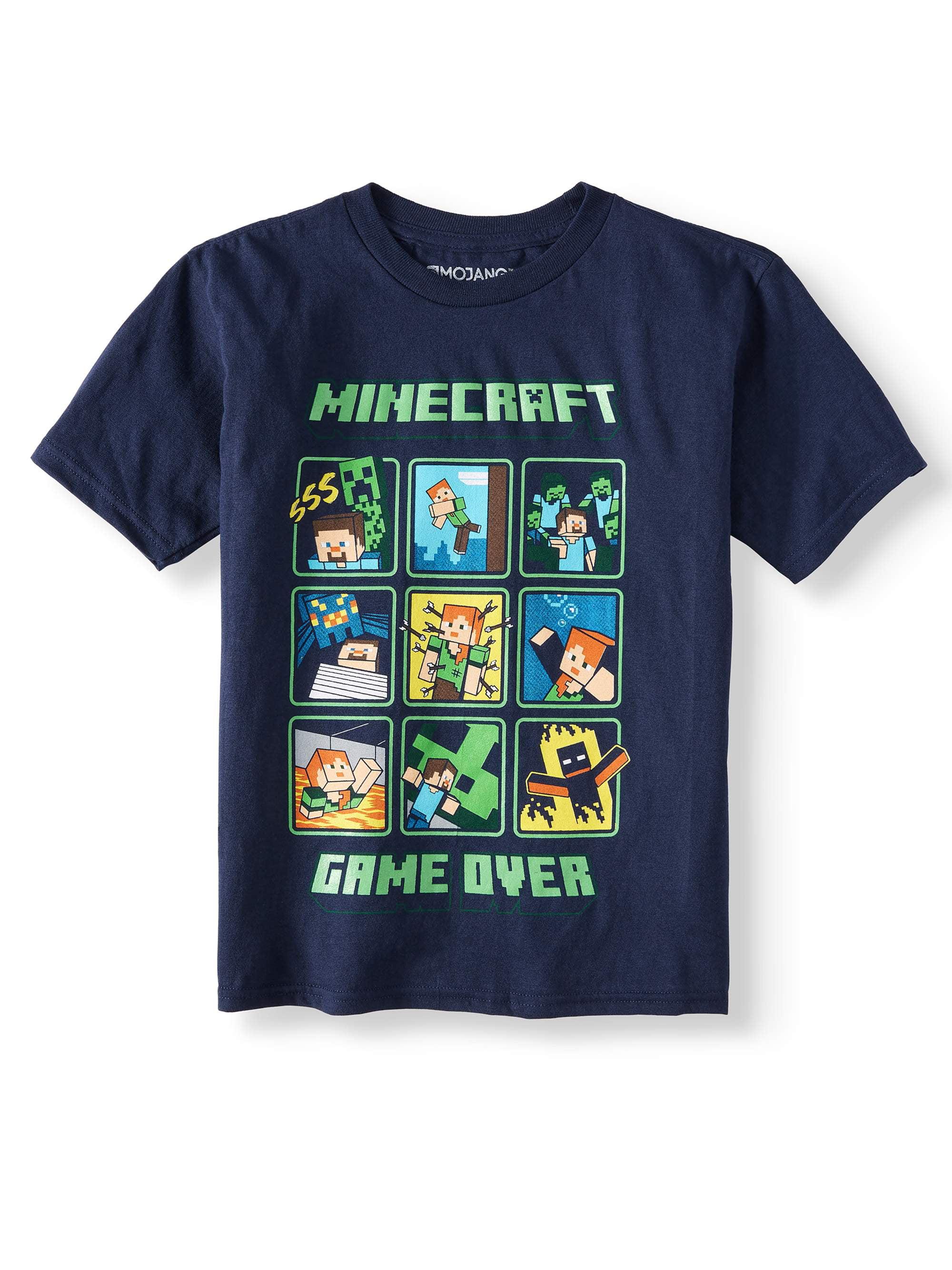 Boys Minecraft Glow In The Dark Short Sleeve Licensed Tee (Little Boys & Big Boys)
