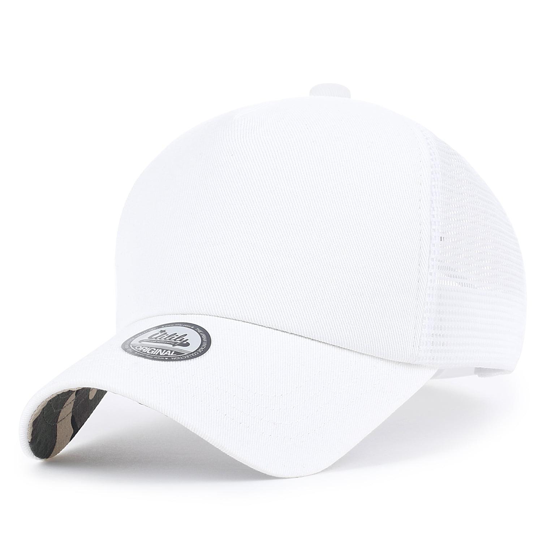 643a559def540 ililily Extra Large Big Size Mesh Back Curved Baseball Cap Trucker Hat XL