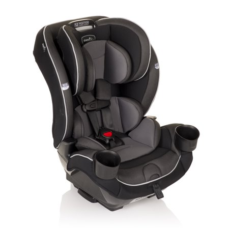 Evenflo EveryKid All-in-One Convertible Car Seat High Back Booster Car Seat,Gray