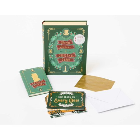 Charles Dickens: A Christmas Carol Deluxe Note Card Set (With Keepsake Book Box) - Charles Dickens Quotes A Christmas Carol