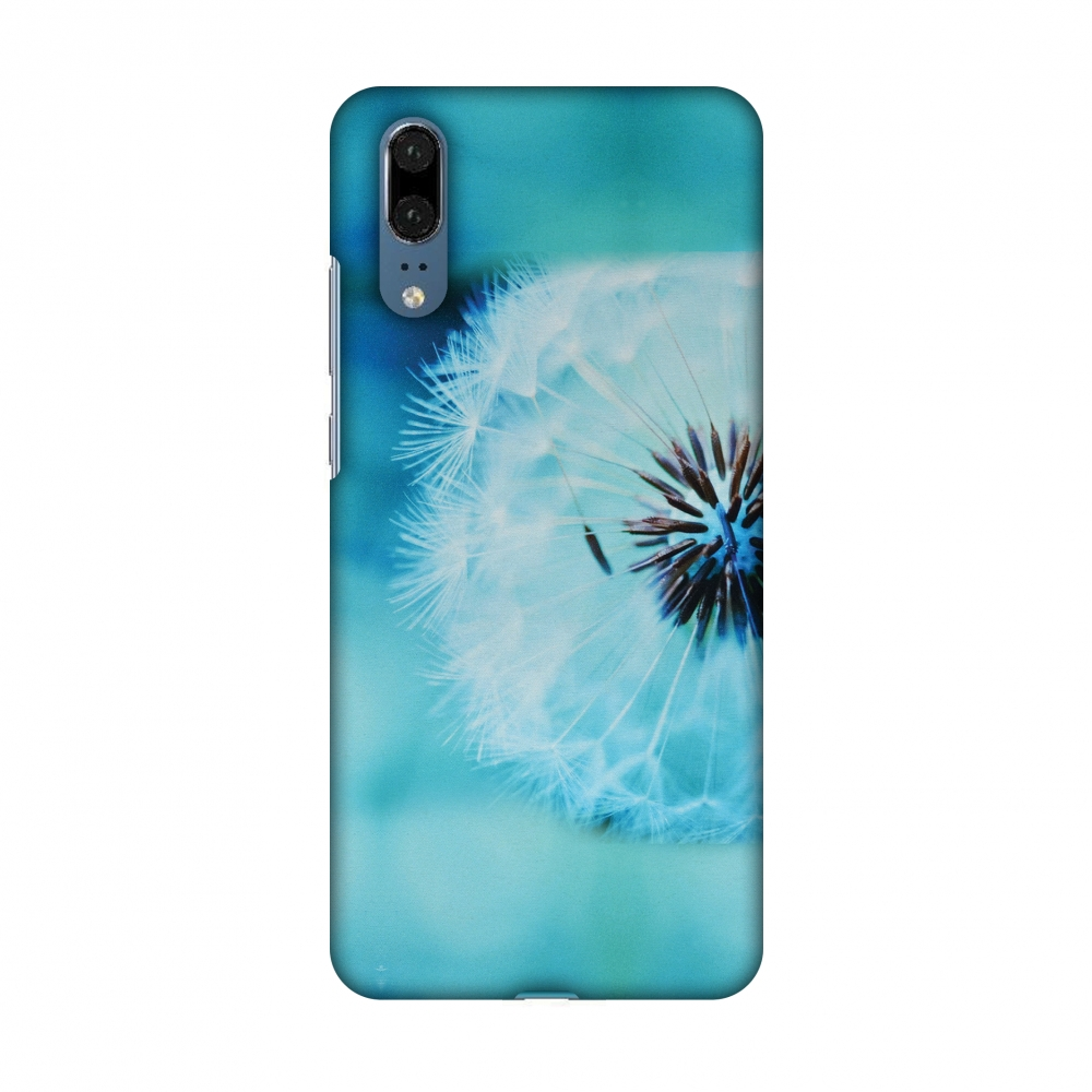 Huawei P20 Case - Dandelion Close By, Hard Plastic Back Cover, Slim Profile Cute Printed Designer Snap on Case with Screen Cleaning Kit