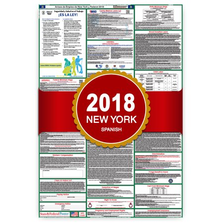 2018 New York  State And Federal Labor Law Poster  Spanish