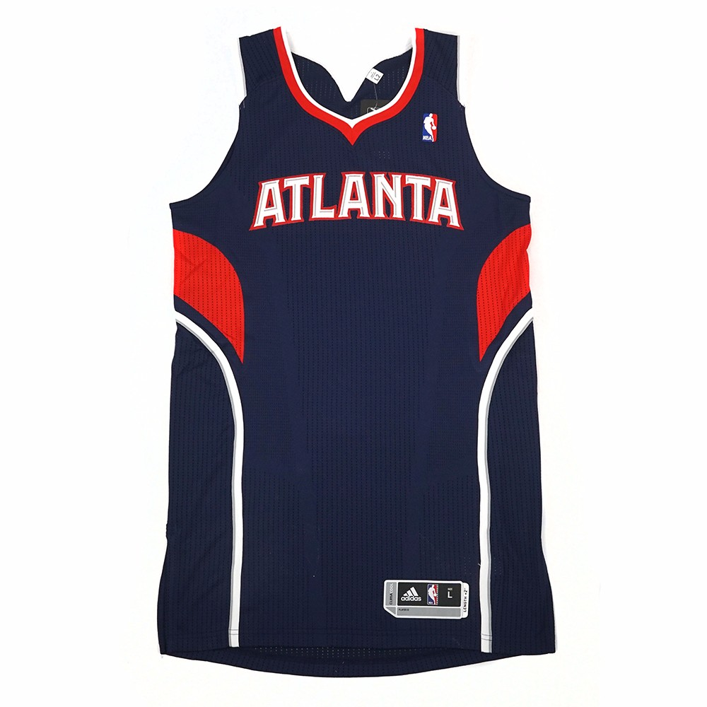 Atlanta Hawks NBA Adidas Navy Blue NBA Authentic On-Court Team Issued Pro Cut Jersey Jersey For Men by Adidas