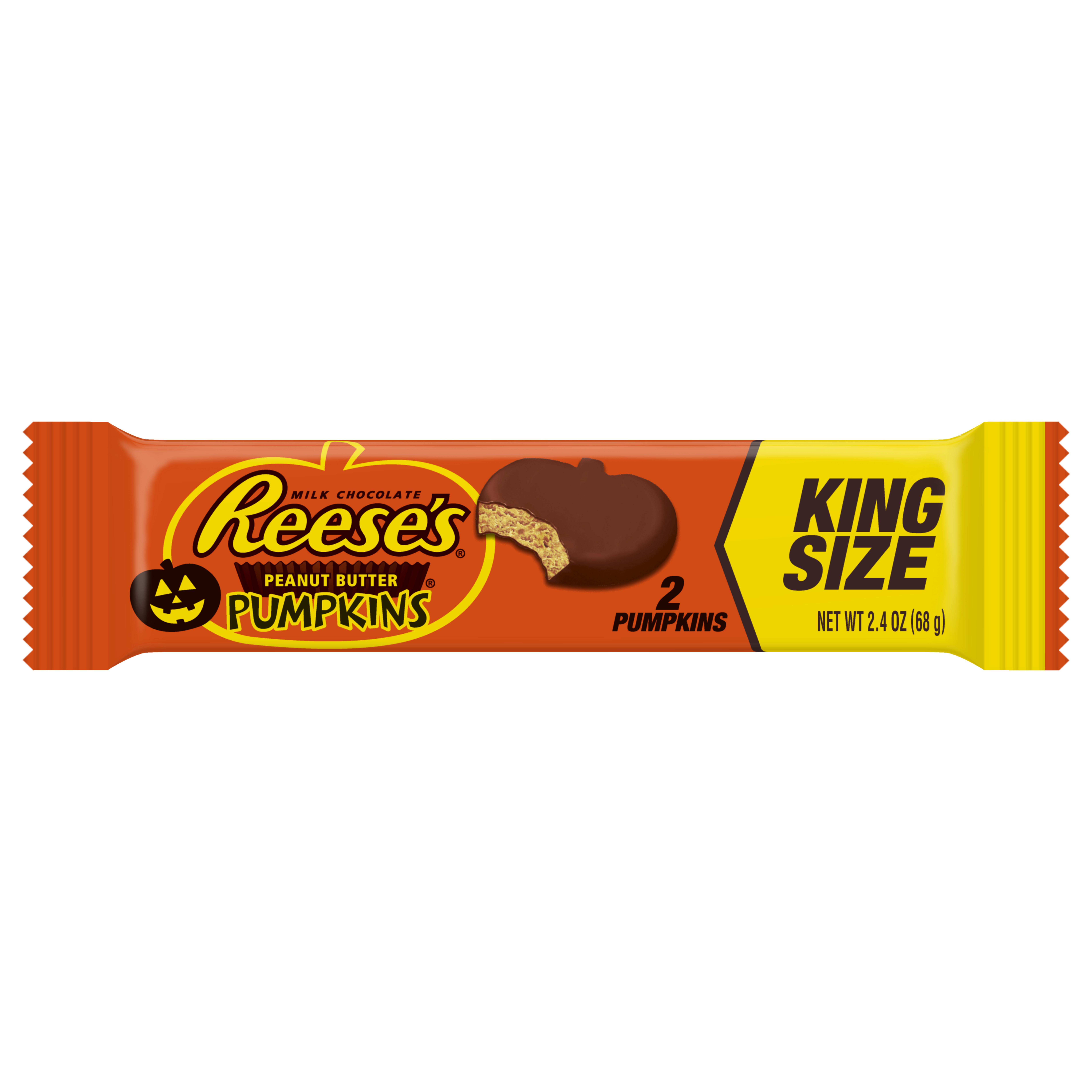 Hershey's Reese's Pumpkins Peanut Butter Cups King Size, 2.4 Oz.
