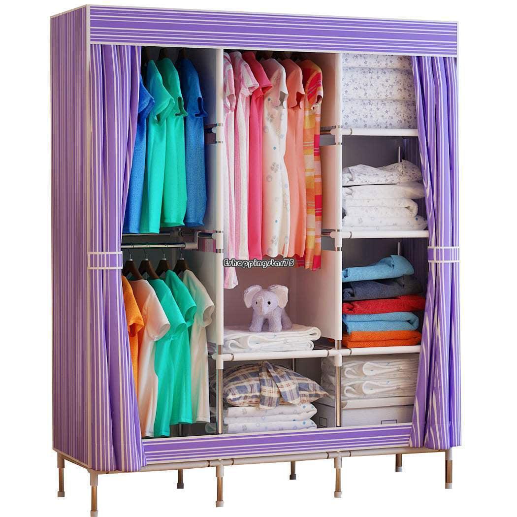 68 70 Portable Garment Wardrobe Clothes Storage Stainless Closet