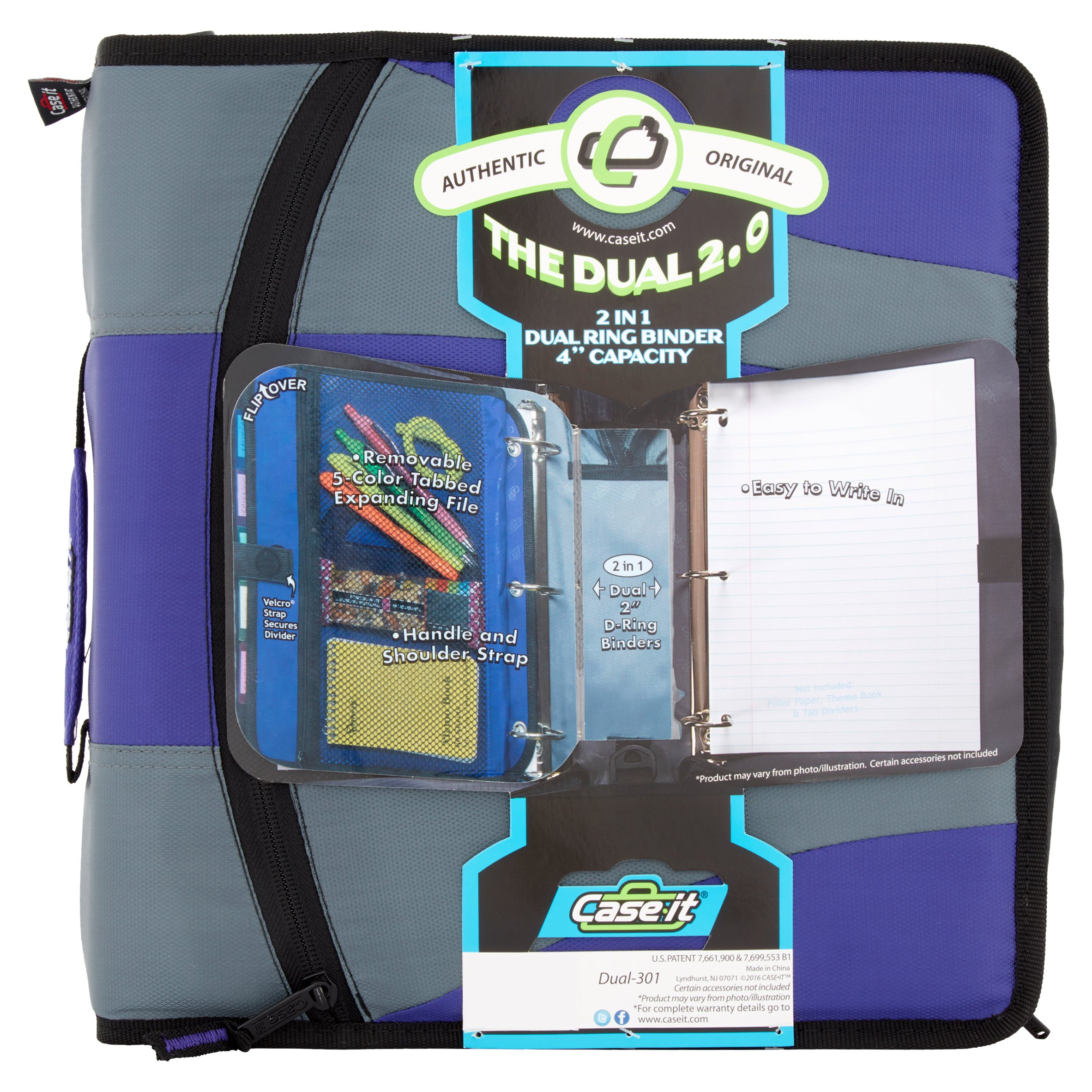 "Case-It® The Dual 2.0 4"" Capacity 2 in 1 Binder"