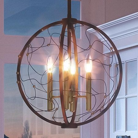 Accent Wire Mount Pendant (Urban Ambiance Luxury French Country Pendant or Chandelier, Medium Size: 17.25