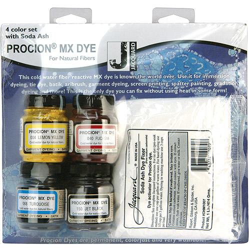 Procion MX 4-Color Dye Set with Soda Ash