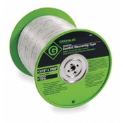 GREENLEE 435 Measuring Tape,Conduit,3000 Ft x 3/16 In