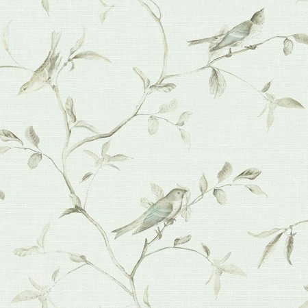 Patina Vie Birds of a Feather Wallpaper - Sky Blue