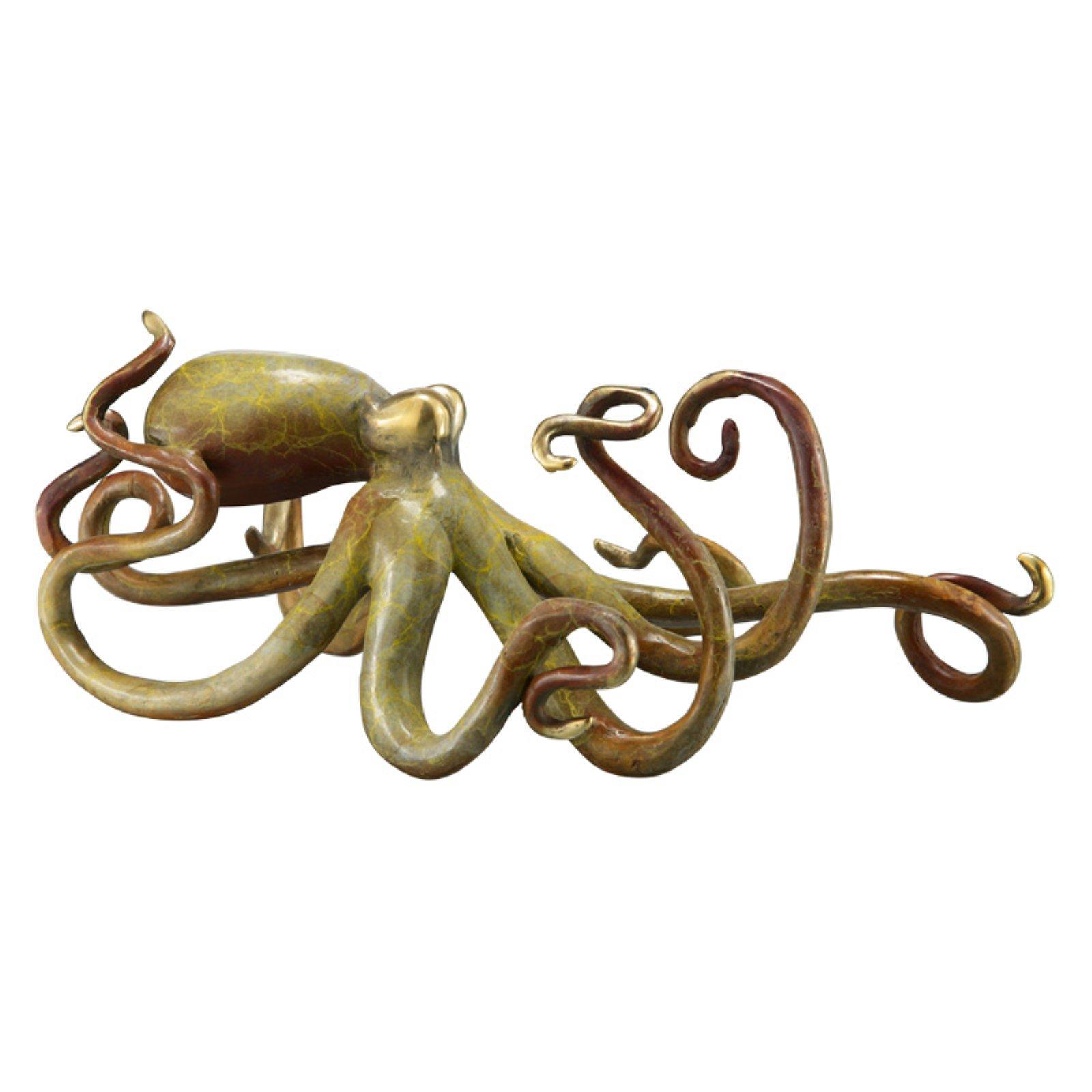 San Pacific International Tan Patina Octopus Sculpture