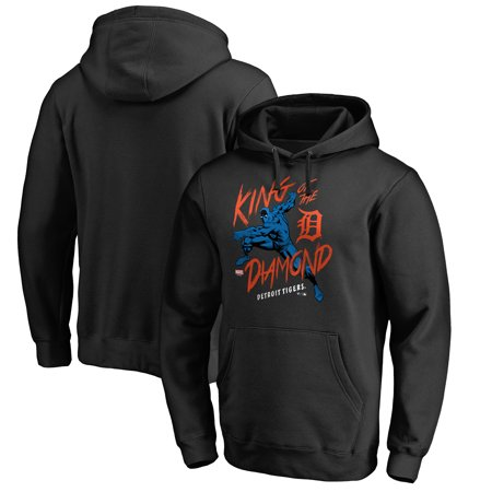 - Detroit Tigers Fanatics Branded MLB Marvel Black Panther King of the Diamond Pullover Hoodie - Black
