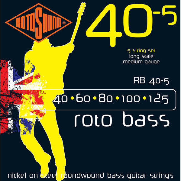Rotosound RB40-5 Roto 5-String Bass Strings (40-125) by Rotosound
