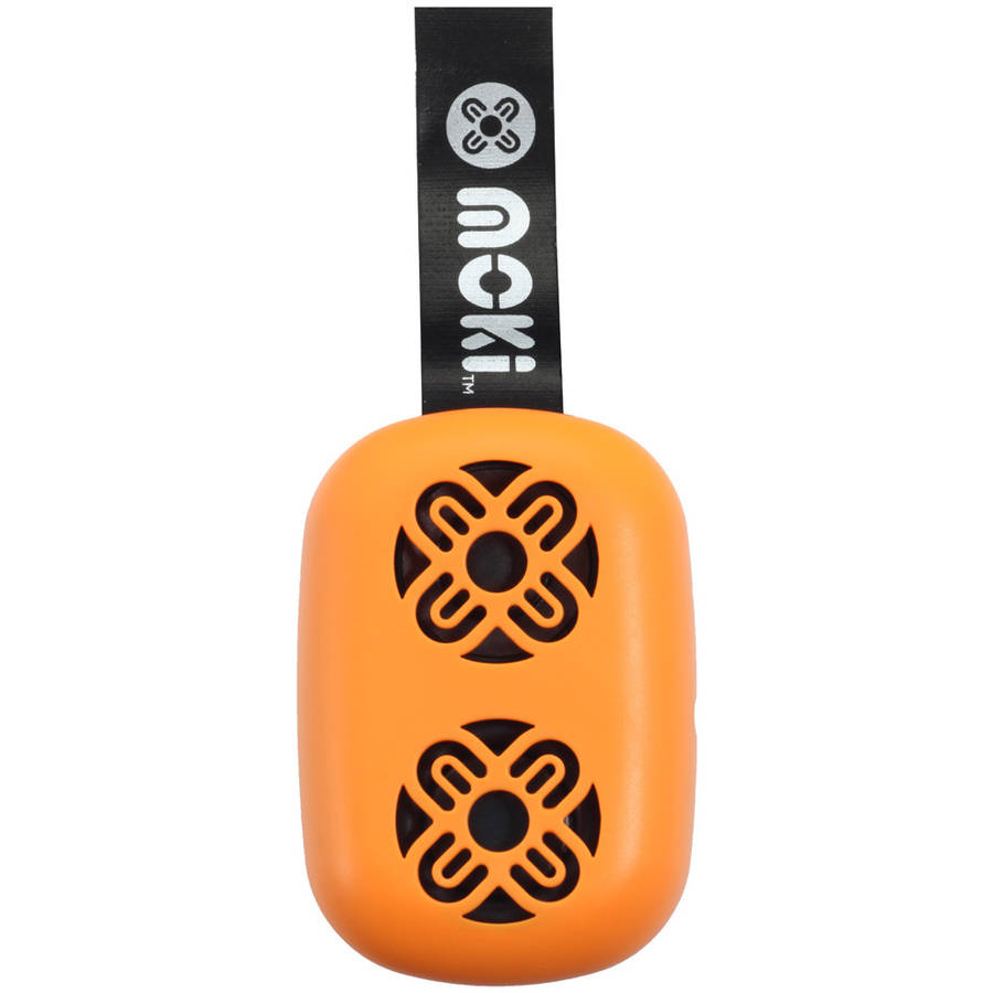 Moki BassPop ACC BPOPOR Ultracompact Bluetooth Wireless Pocket Speaker, Fluro Orange