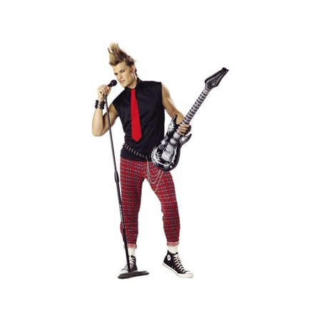 Adult Punk Rock Singer Costume (Hard Rock Halloween)