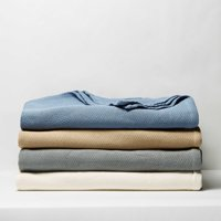 Better Homes & Gardens Pure Cotton Woven Bed Blanket (Multiple Sizes and Colors)