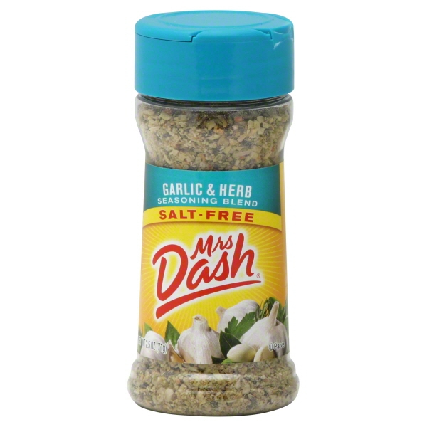 (2 Pack) Mrs. Dash Garlic & Herb Seasoning Blend, 2.5 Oz