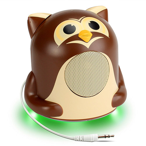 GOgroove Groove Pal Jr. Owl Portable High-Powered Portable Animal Speaker with Glowing LED Base for Smartphones , Laptops , Tablets , MP3 Players & More!