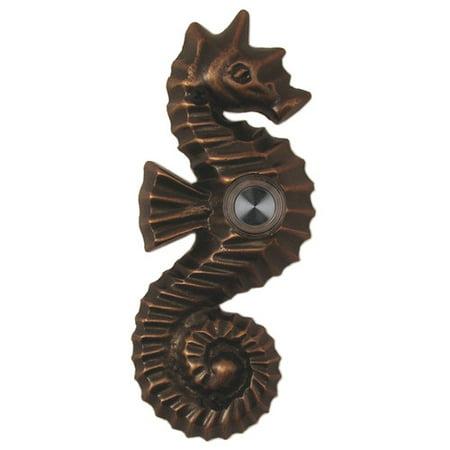 Bronze Doorbell Cover (Waterwood Hardware Brass Seahorse Doorbell)