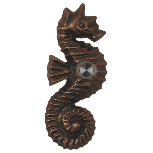 Waterwood Hardware Brass Seahorse Doorbell