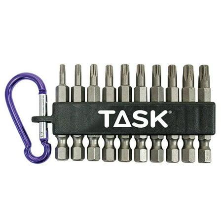 Task Tools T67060 Torx Hex Drill Bit, Steel, 10 Piece